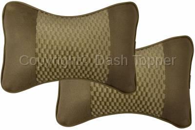 Dashcessories - Headrest Cushions  - Twin Headrest Cushion Tan