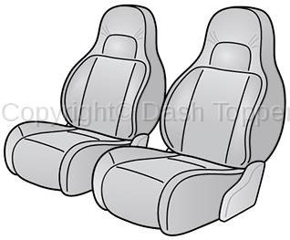 1997 JEEP GRAND CHEROKEE SEAT COVER FRONT BUCKET