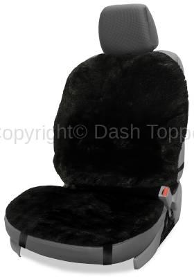 Topcessories - Seat Topper™ Sheepskin Covers - Seat Topper™ Sheepskin Topper Black Without Headrest Cover