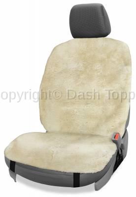 Topcessories - Seat Topper™ Sheepskin Covers - Seat Topper™ Sheepskin Topper Beige Without Headrest Cover