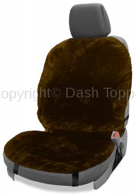 Topcessories - Seat Topper™ Sheepskin Covers - Seat Topper™ Sheepskin Topper Brown Without Headrest Cover