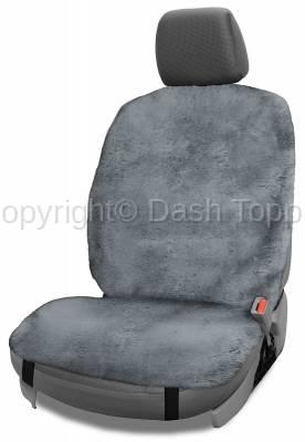 Topcessories - Seat Topper™ Sheepskin Covers - Seat Topper™ Sheepskin Topper Gray Without Headrest Cover