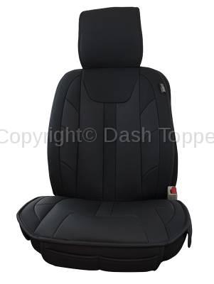 Topcessories - Seat Topper Comfort Cushion - Seat Topper Comfort Cushion Black Leatherette