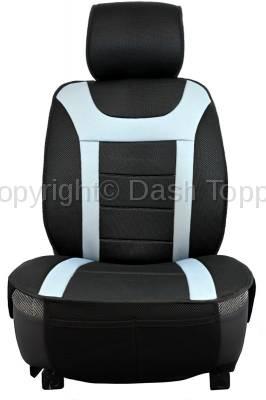 Topcessories - Seat Topper Comfort Cushion - Seat Topper Comfort Cushion Black / Grey