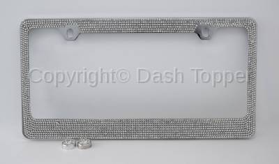 Topcessories - License Plate Frames - 7 Row Crystal License Plate Frame