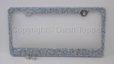 Topcessories - License Plate Frames - Rainbow Crushed Crystal License Plate Frame
